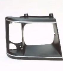 Aftermarket HEADLIGHT DOOR/BEZEL for CHEVROLET - ASTRO VAN, ASTRO,85-94,RIGHT HANDSIDE H/L DOOR BLACK/SLV